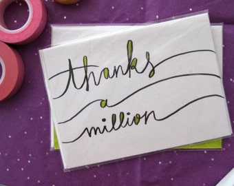 Thanks A Million - Handmade Greeting Card