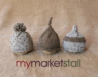 Woodland Baby Hats/3 Styles/Newborn Coming Home or 0-3 Months/Ready to Ship