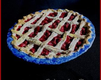 Paper Mache Cherry Pie