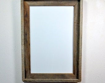11x17 recycled wood poster frame with a beautiful natural patina