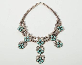 Vintage 1970s Squash Blossom Necklace