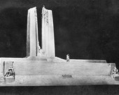 VINTAGE PHOTO POSTCARD, War Memorial, Vimy-Ridge, collected by junqueTrunque.