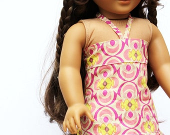 Fits like American Girl Doll Clothes - Bandeau Ruffle Dress in Rose Ballade
