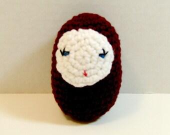 Burgundy Babuska Doll. Plush Toy Russian Doll. Amigurumi Babuska Doll. Kawaii Crochet Babuska Doll. Valentine Gift. Birthday Gift. Toy Doll