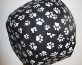 Paw prints kippah little prints 4 legged friend yarmulke -- toddler or regular sizing--great gift for your special someone