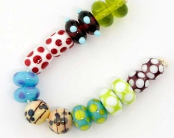 8 Pairs Lampwork Beads Bracelet Earrings Necklace 16 beads