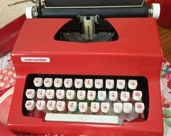 Vintage 1960s RED Typewriter - Write Your Letter to Santa and More . . .