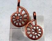 Bronze Patina Nautilus Shell Charm, 2 Pieces, M495