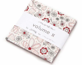 SALE 5 inch charm pack VOLUME II Moda Fabric by Sweetwater