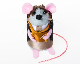 Paul McGann Doctor Who Mouse ornament artisan felt rat hamster mice cute gift for doctor who fan or dr who collector