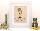 Unicorn quote, 'if you'll believe in me, I'll believe in you - Kids room decor - 8x11 - Baby girl nursery - Nursery decor - Nursery art