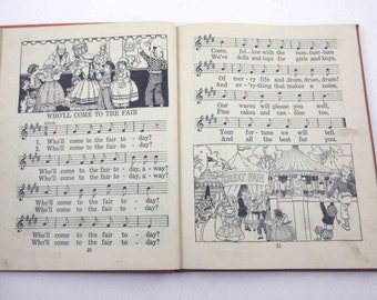 A Child's Book of Songs Vintage 1920s Childrens School Song Book of Music by Robert Foresman