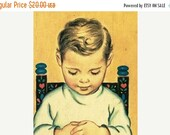Valentines Day Sale 1957 Prayers and Graces for a Small Child by Mary Alice Jones, Illustrated by Elizabeth Webbe,  children's book 1950's C