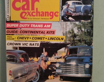 ON SALE Car Exchange Magazine Aug  1980 Antique Cars Mid Century 1950 Mercury Ford Crown Victoria Pontiac Trans Am Continental Kits Studebak