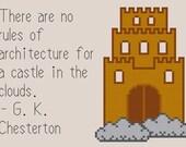 Cloud Castle #makeforgood Cross Stitch Pattern Instant Download