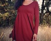 Sale // Sangria // Empire Tunic Dress // Hemp & Organic Cotton Jersey // Eco Fashion