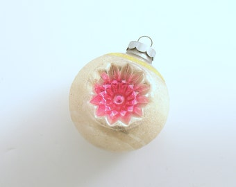 Vintage Christmas Ornament Glass Shiny Brite Mid Century Indents