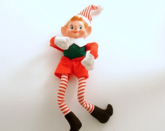 Vintage Christmas Decoration Pixie Elf
