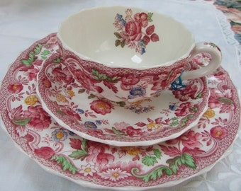 VINTAGE - Copeland Spode's Bouquet Cup and Saucer Trio Set