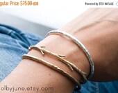Valentines Day Sale Bronze Twig Cuff Bracelet| Nature Inspired Bracelets,| Stacking Bracelets