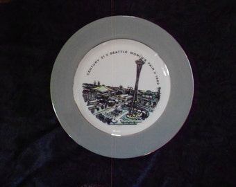 Seattle Worlds Fair 1962 Plate