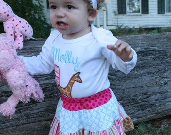 Boutique Scrappy Skirt by Fresh Vintage Shop OOAK 6-12 mos 12-18 mos NEW SIZES