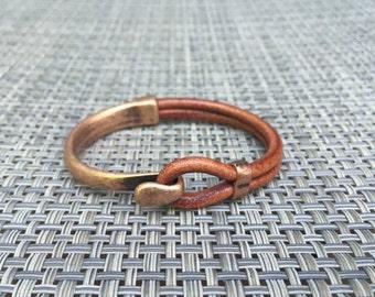Copper Hook Half Cuff Bracelet