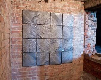 Groundwork / aluminum wall installation / landscape/ textured