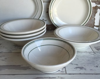 Vintage Restaurant Ware Bowls - Mixed Lot Homer Laughlin Round and Oval