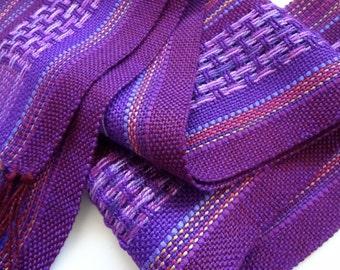 handwoven deep amethyst  symphony scarf