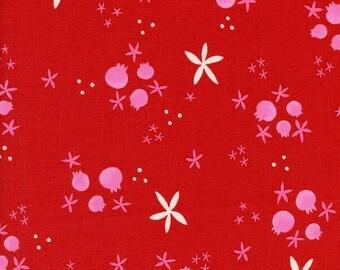 25% OFF Cotton + Steel Tinsel Winter Pomegranates Red - 1/2 Yard