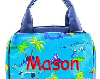 Personalized Lunch Bag Dinosaur Dino Insulated Monogrammed