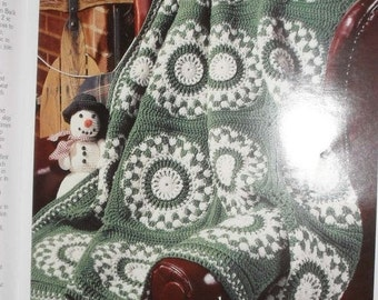Christmas in July Custom Hand Crocheted Winter Mosaic Afghan Gift Present  Christmas Birthday Made to Order