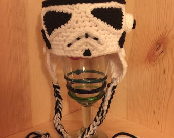 Made to Order Crochet NEWBORN Storm Trooper