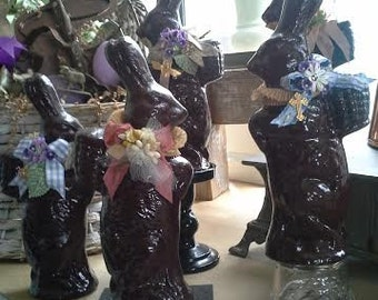 Faux Chocolate Plaster Rabbits