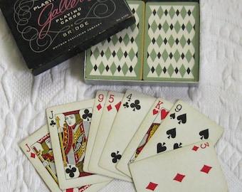vintage card game . bridge game . vintage bridge game . Gallertie bridge game . gallertie