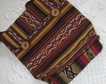 Hand Woven Wool Purse . woven shoulder bag .  Woven Wool Shoulder Bag . Folk Shoulder Bag