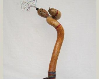 Gourd Kokopelli Figure