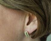 Silver Coffee Bean Earrings