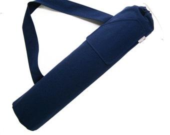Yoga Mat Bag. Yogi Gifts under 50. Navy Yoga Bag for Men or Women. Yoga Mat Tote. Yoga Mat Carrier. Yoga Accessories. Yoga Every Damn Day