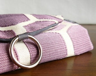 Wanderlust Gifts. Earring Organizer. Gift for Travel Lover. Purple Ombre Hexagons Jewelry Travel Organizer. Travel Gifts for Women