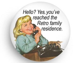 Funny Retro Kitchen Magnet-Fun Refrigerator Magnet Gift