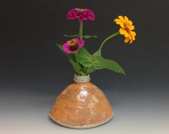 Flower Vase in Rocking Shape. Soda Fired Stoneware Pottery