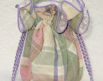 Pretty pastel plaid Pouch for Jewelry