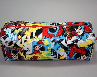 Boxy Makeup Bag - DC Comics Batgirl Zipper - Pencil Pouch