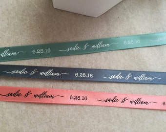 Custom Ribbon - Stylish Script Continuous Print Ribbon - 100 yards
