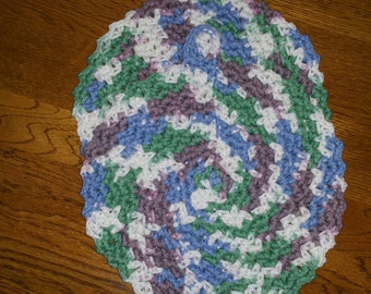 Cotton Crochet Potholders set of two in Freshly Pressed