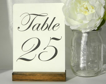 Card Holder + Table Number Holder + Rustic Wedding + Rustic Wood Table Number Holders (5inch)