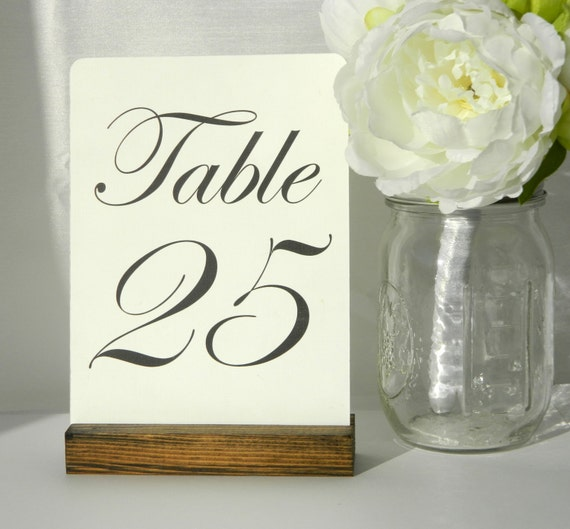 Card holder table number holder rustic wedding by gallery360 for Table number holders
