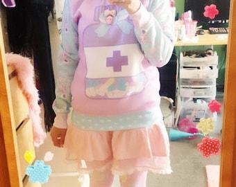 Medical Sweater, Pill Bottle Sweater, Sweater, Kawaii Sweater, Pastel Sweater